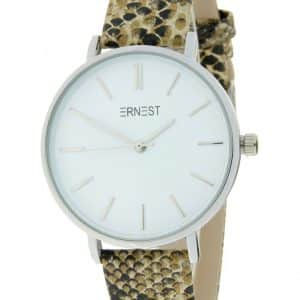 Slangenprint Ernest horloge | The Fashion Label