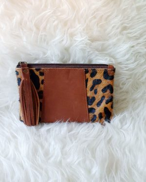 Clutch Panter Bruin   The Fashion Label