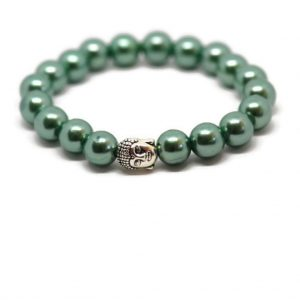 Kralenarmband Buddha - Groen | The Fashion Label