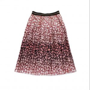 Plissée Rok Panter - Roze | The Fashion Label